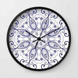 the abstract design of a circular pattern. Round Mandala. Wall Clock