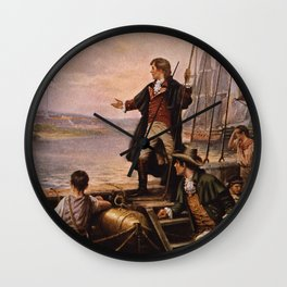 Francis Scott Key - Star Spangled Banner Painting Wall Clock