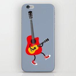 Dancing guitars iPhone Skin