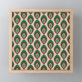 Peacock feather pink #homedecor #midcenturydecor Framed Mini Art Print