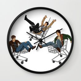 Supernatural Shopping Carts Wall Clock