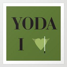 I heart Yoda Art Print