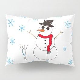 Snowman Rock Paper Scissor Pillow Sham