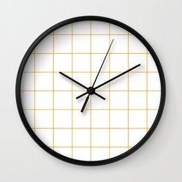 Graph Paper (Orange & White Pattern) Wall Clock