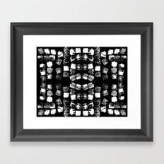 Stamp Black and White Framed Art Print