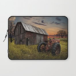 Abandoned Farmall Tractor and Barn Laptop Sleeve