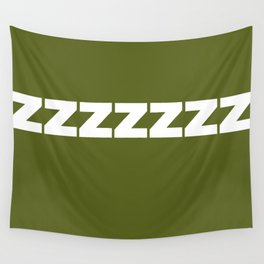 ZZZZZZ On Olive Wall Tapestry