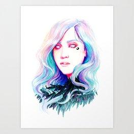 OPAL RAVEN Art Print