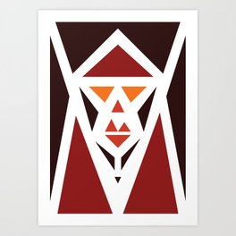 Five Triangle Faces - The Pope Art Print