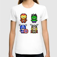 superhero T-shirts featuring Superhero Gathering by Daizy Jain