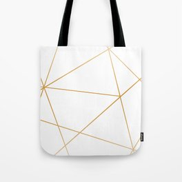 geometric gold and white Umhängetasche