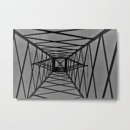 Abstract Image of Electric pylon Metal Print