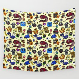 Friends and Foes of the 64-bit Plumber Wall Tapestry