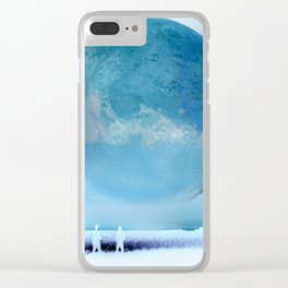Moon Sparkler Clear iPhone Case