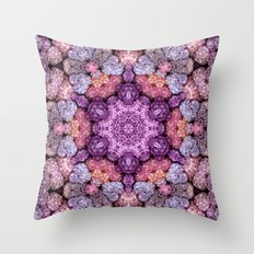 Hydrangea Kaleidoscope Throw Pillow