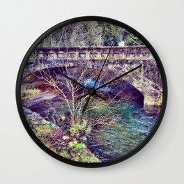 Water under the bridge Wall Clock