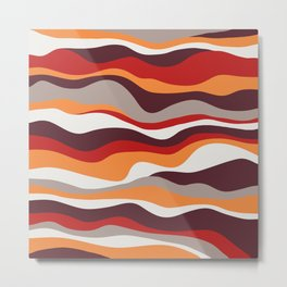 Cordillera Stripe: Red, Orange Combo Metal Print