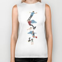 neverland Biker Tanks featuring Off To Neverland by Ashley R. Guillory