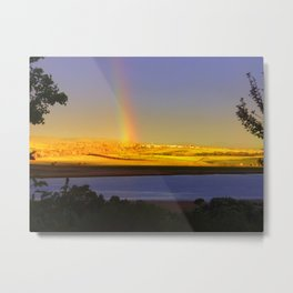 Rainbow & the Last bit of light for the Day Metal Print