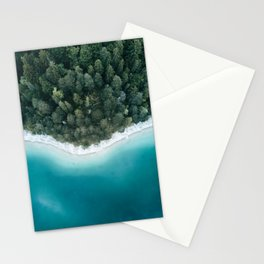 Green and Blue Symmetry - Landscape Photography Stationery Cards