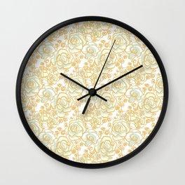 Doodle Rose Wall Clock