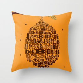 B Hive Throw Pillow