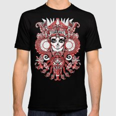 Red Serpent Queen MEDIUM Black Mens Fitted Tee