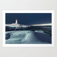 Painted in Snow Art Print