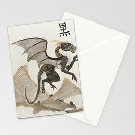 Kuro the black dragon Stationery Cards