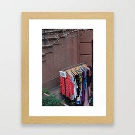 Outdoor Sale Framed Art Print