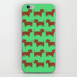 Brown Dachshund Printmaking Art iPhone Skin