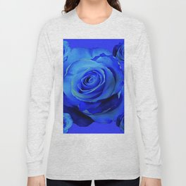 BLUE ROSES & BLUE  MODERN ART CONCEPT Long Sleeve T-shirt