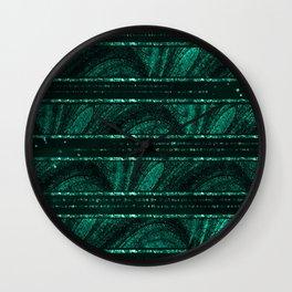 Emerald botanical II Wall Clock