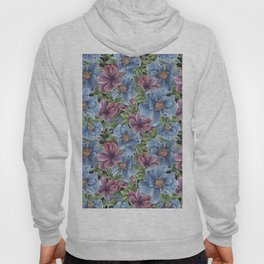 Hibiscus Flowers on Chalkboard Hoody