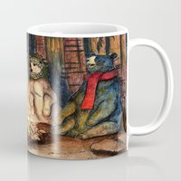 helen Mugs featuring Camp Meeting By Helen Green by Bear Picnic