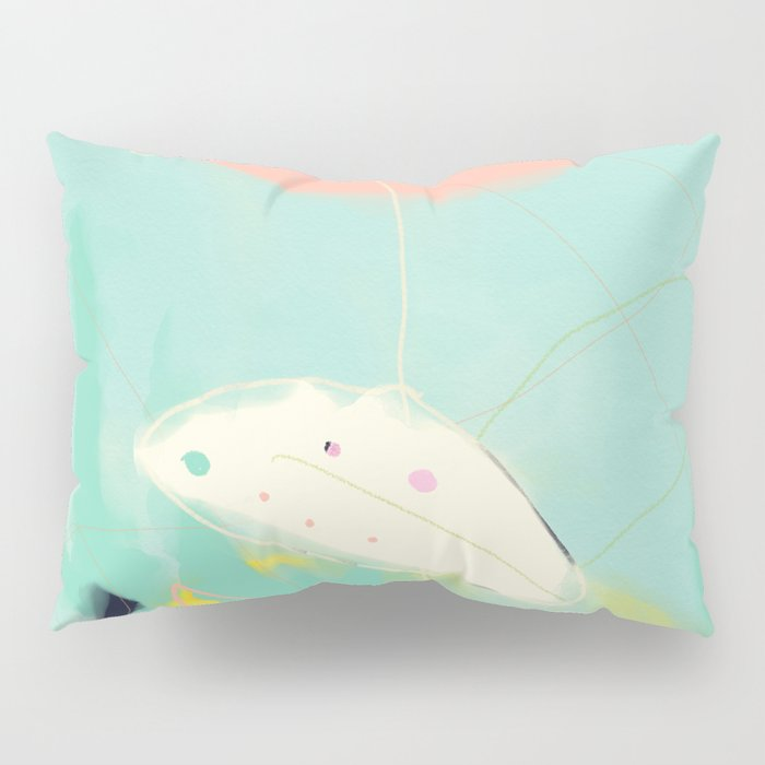 minimal floral abstract art Pillow Sham