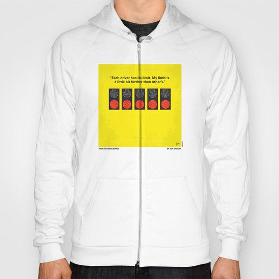 No075 My senna minimal movie poster Hoody