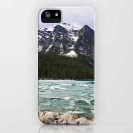 Winter Photography: Frozen Lake - Lake Louse, Banff, Canada iPhone Case