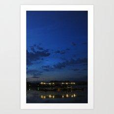 Dawning at the Dock Art Print