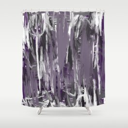 Grayed Purple Abstract Shower Curtain