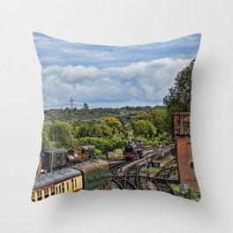 Camelot end of day. Throw Pillow