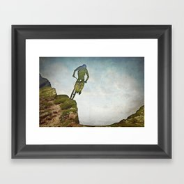 Biking Off Road Framed Art Print