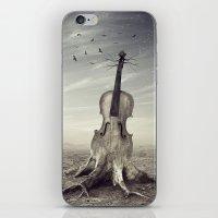 violin iPhone & iPod Skins featuring violin by Andrzej Siejeński