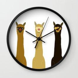 Triple LLAMAS ALPACAS CAMELS Wall Clock