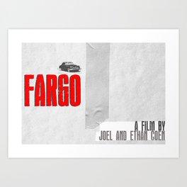 FARGO [MINIMAL MOVIE POSTER] Art Print