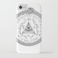 ouija iPhone & iPod Cases featuring Ouija by oracularcoven