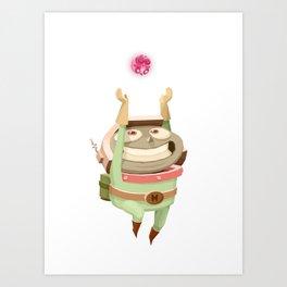 Mr Mars Hero Pose Art Print