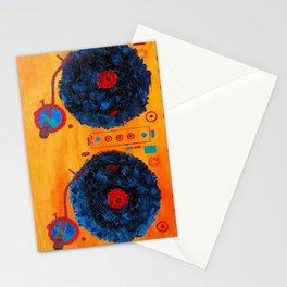 DJ make it louder Stationery Cards