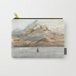 Mountain Watercolor Carry-All Pouch