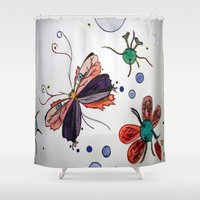 evolution Shower Curtains featuring Evolution by Sharixon